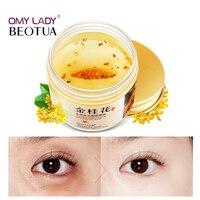 80Pcs/ Bottle Gold Osmanthus Eye Mask Eye care Collagen gel Whey Protein Sleep Patches Remover dark Circles Eye Bags Under Eyes