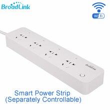 Broadlink mp1 tomada de tira de energia inteligente separadamente controlável wifi controle remoto 4 tomada de energia para automação inteligente
