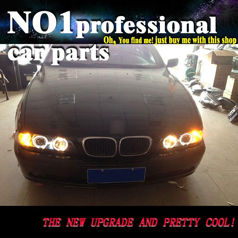 OUMIAO voiture style pour BMW série 5 E39 phares 1995-2003 pour E39 phare led DRL avant bi-xénon lentille Double faisceau HID KIT