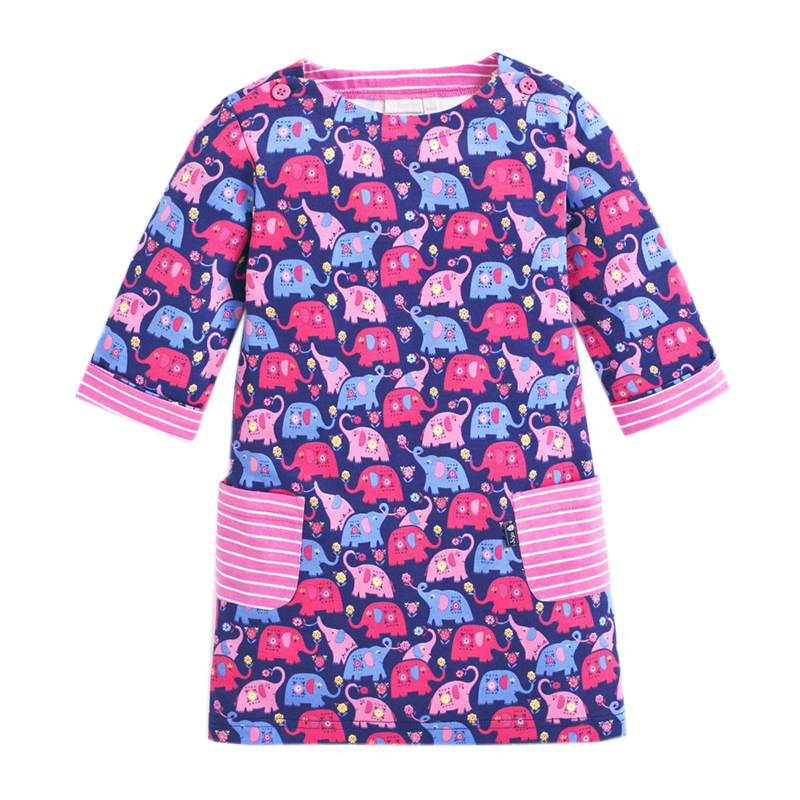 Girls Dresses Retail Long Sleeve Brand Kids Dress for Girls Clothes Robe Enfant Animal Appliques Princess Costumes  MS0275 Mix girls dresses long sleeve 2017 spring brand kids dress for girls clothes baby infant animal flower princess costumes children