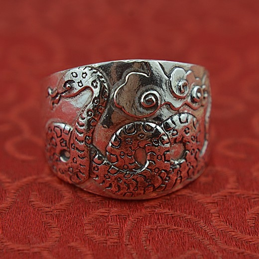 999 sterling silver jewelry ring zodiac snake man quit domineering wide ring fine silver ring ring luisa vannini jewelry ring