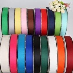 5Yard/lot 7mm 10mm 15mm 20mm 25mm 38mm couleur unie ruban gros-grain pour décoration de fête de mariage emballage cadeau ruban ruban de noël