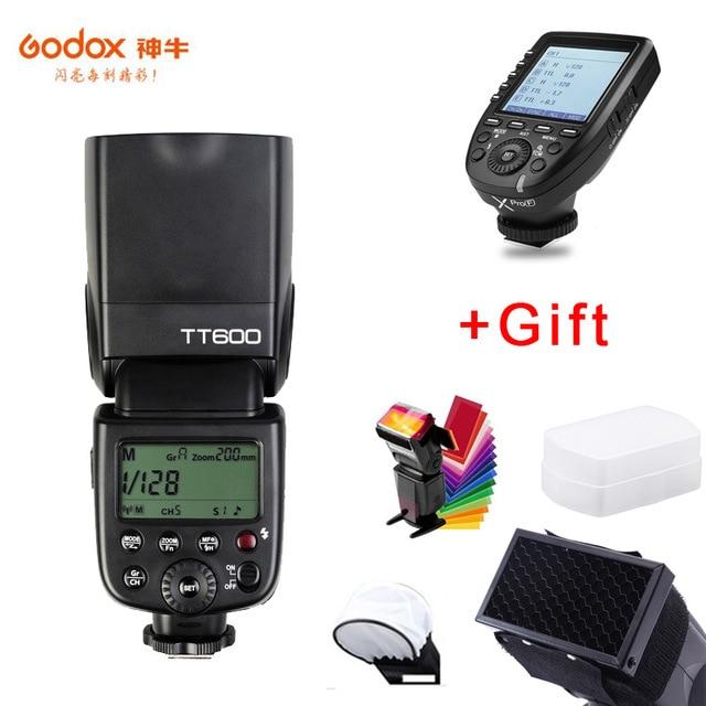 Godox TT600 GN60 HSS 1/8000 s caméra Flash Speedlite + 2.4G sans fil xpro-f transmetteur pour Fuji XT-30 XT20 XT3 X-H1 GFX50R X-T2