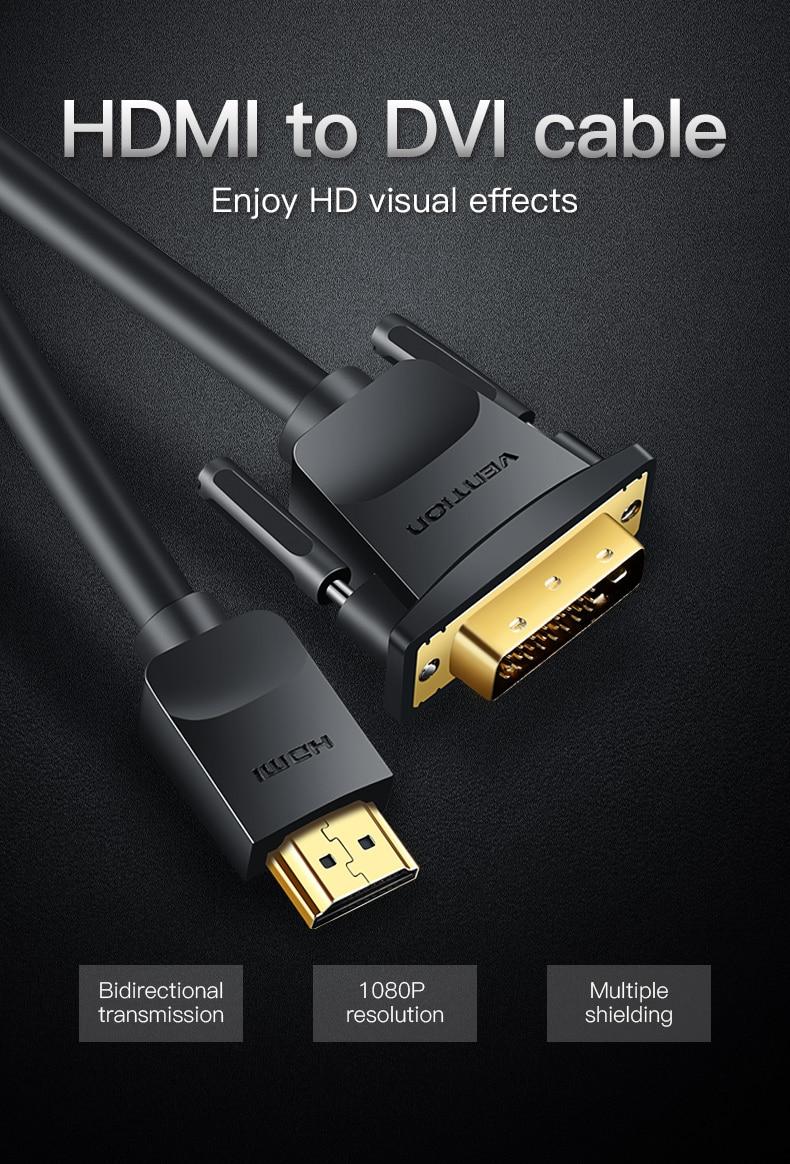 HDMI to DVI Cable 1m 2m 3m 5m DVI-D 24+1 Pin HTB1.tk.cL1H3KVjSZFBq6zSMXXaZ