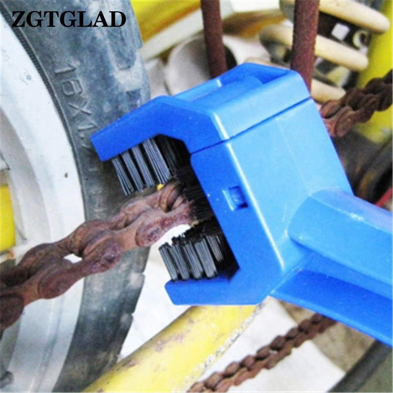 ZGTGLAD 1pcs Hot Sale Portable Cycling Bike Gear Chain Brush Motorcycle Grunge Cleaner Home Cleaning Supplies