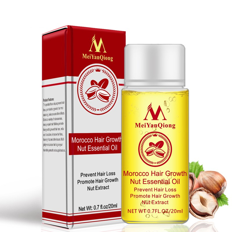 New 20ml Men Women Moroccan Hair Growth Nut Essential Oils Hair Faster Grow Oil Stop Hair Loss Products Beauty Hair Care