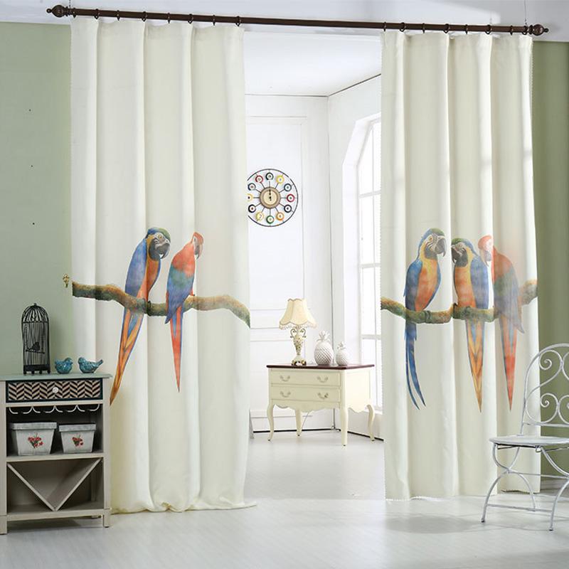 d patrn de aves de impresin de fotos cortinas para la sala de estar dormitorio cocina