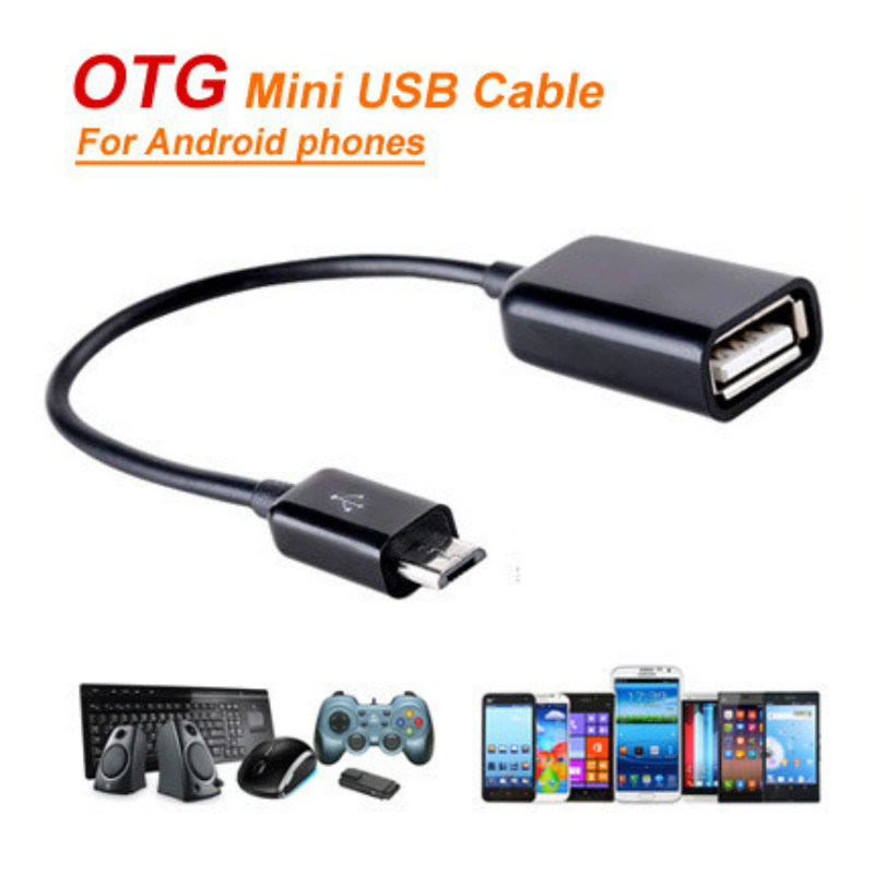 PRO OTG Cable Works for Lenovo Phab 2 Right Angle Cable Connects You to Any Compatible USB Device with MicroUSB