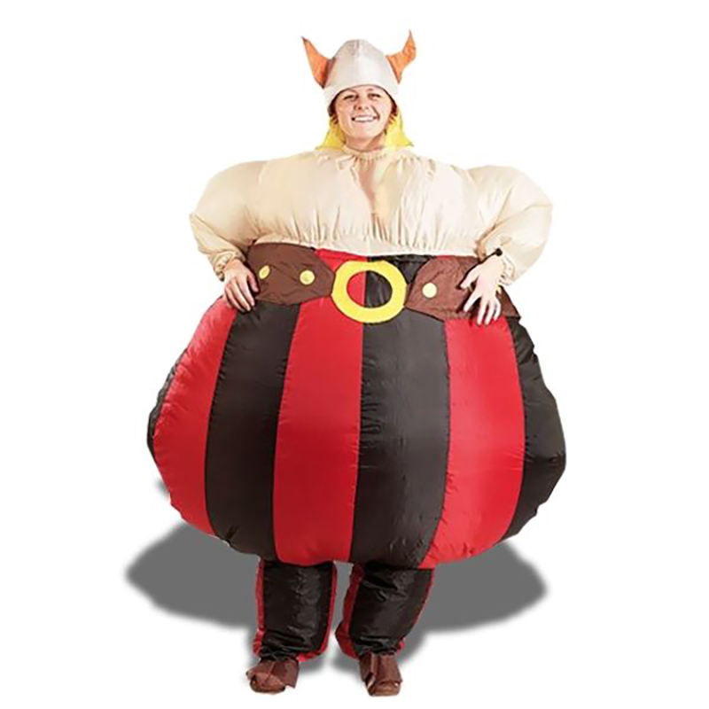 Viking Inflatable Costumes for Adults Men Women Blow Up Suits Party Carnival Cosplay Fancy Dress Halloween Purim Obelix Cartoon
