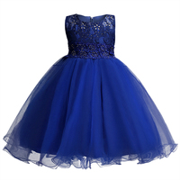 Top Quality Kids Princess Dress Summer Drilling Flower Girls Clothes Tulle Kids Party Wedding Prom Costumes