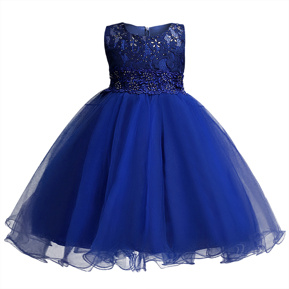 Top Quality Kids Princess Dress Summer Drilling Flower Girls Clothes Tulle Kids Party Wedding Prom Costumes for Teenager Girls baby girls summer cotton princess top quality kids sleeveless dress children wedding party clothes girl christmas prom dress