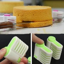 2 Pcs 5 Layers DIY Cake Bread Cutter Leveler Slicer Set Cutting Fixator Tools cake decorating tools For Kitchen(China)