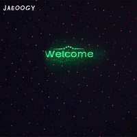 Creative Lawn Starry Red Green Laser Laser Lamp Clean Cafe Fashion Fluorescent Welcome Lamp