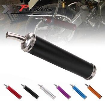 6 kolor uniwersalny metal 20MM motocyklowy wyścigowy tłumik wydechowy cisza tłumik 2 suwowy motocykl tłumik rury wydechowej