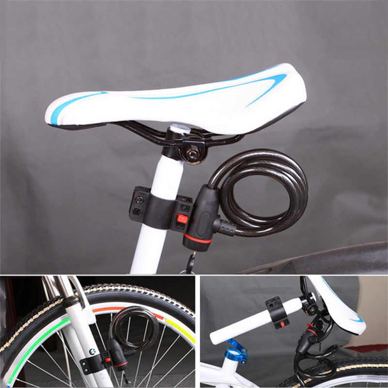 Anti-Pencurian Sepeda Kunci Sepeda 100 Cm Sepeda Kabel Baja Kunci dengan 2 Kunci Sepeda Motor Kunci Keamanan Tahan Lama aksesoris Sepeda