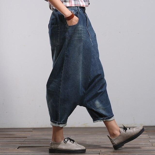 Dell annata Delle Signore Cargo Jeans Cowboy Capri Pelle Scamosciata Delle  Donne Pantaloni Hip Hop f9807eeec1dd