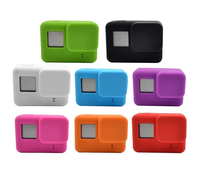 Go Pro Accessories Action Camera Case Protective Silicone Case Skin +Lens Cap Cover for GoPro Hero 5 Black Hero 6 Camera (2)