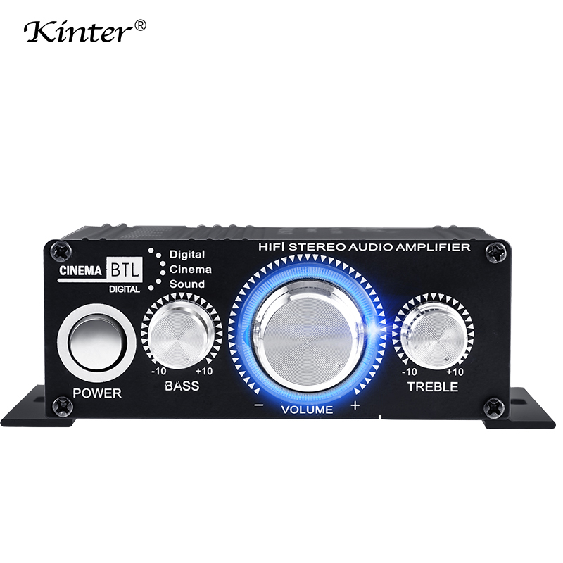 kinter MA-170 mini amplifier audio for speaker 2 channels DC12V home Motorcycle car amplifiers stereo sound aluminum enclosure