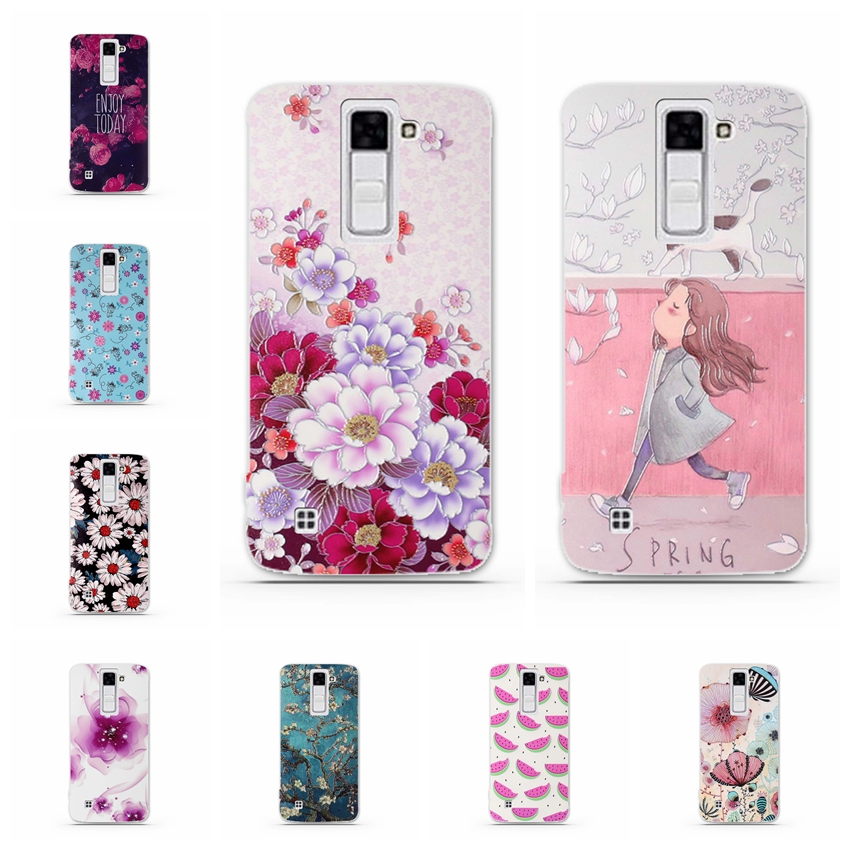 Case For <font><b>LG</b></font> K7 X210 <font><b>X210DS</b></font> Tribute 5 LS675 Case 3D Relief Phone Cover for <font><b>LG</b></font> <font><b>K</b></font> <font><b>7</b></font> Cover Soft Silicone Back Coque for <font><b>LG</b></font> K7 Shells image
