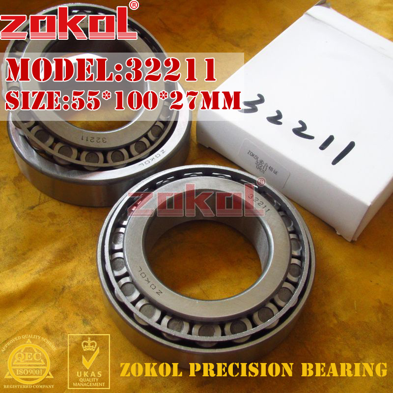 ZOKOL bearing 32211 7511E Tapered Roller Bearing 55*100*27mm na4910 heavy duty needle roller bearing entity needle bearing with inner ring 4524910 size 50 72 22