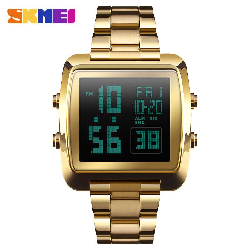 SKMEI двойное Отображение времени Для мужчин светодиодный Дисплей цифровые часы Спорт на открытом воздухе часы Водонепроницаемый мужские на...