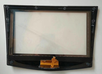 touchscreen for Cadillac CUE CTS SRX XTS car DVD GPS navigation LCD panel digitizer with Frame