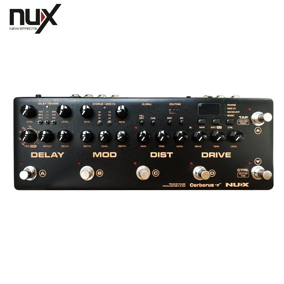 NUX Cerberus multi-fonction guitare effets pédale processeur intégré analogique Overdrive distorsion Modulation et Modules de retard