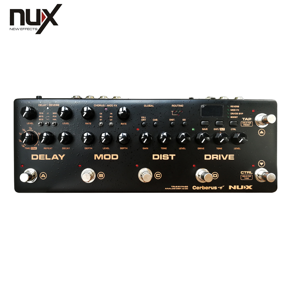 nux cerberus multi function guitar effects pedal processor integrated analog overdrive. Black Bedroom Furniture Sets. Home Design Ideas