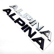 Альпина письмо багажник Задняя эмблема наклейка для BMW E46 E39 E60 E90 E36 E53 E30 E34 F10 F30 1 3 5 7 M X Z серии стайлинга автомобилей