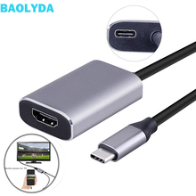 Baolyda USB C to HDMI Adapter Thunderbolt 3 Dock USB-C TO HDMI Cable Adapter Supports 4K@60Hz Video Resolution for Mobile to HD все цены