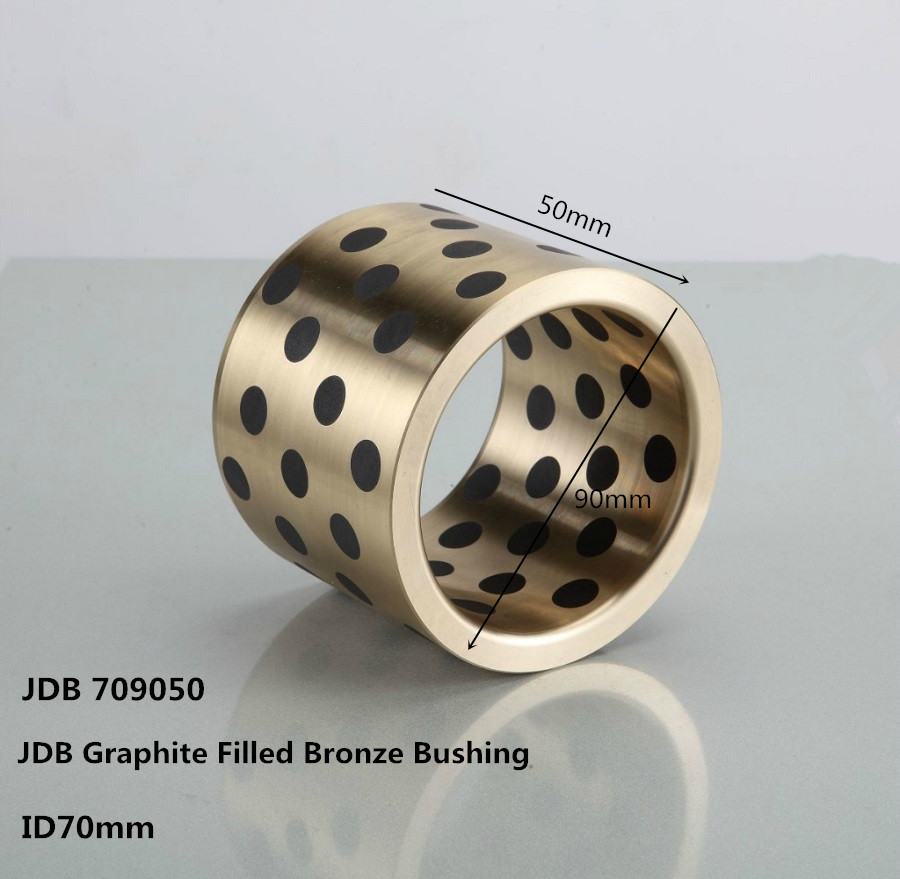 JDB709050 bronze graphite bushing ,graphite copper sleeve bearing , Graphite Lubricating Bearings lm40uu solid inlay graphite self lubricating linear bearings bushings without oil graphite copper sleeve 40 60 80
