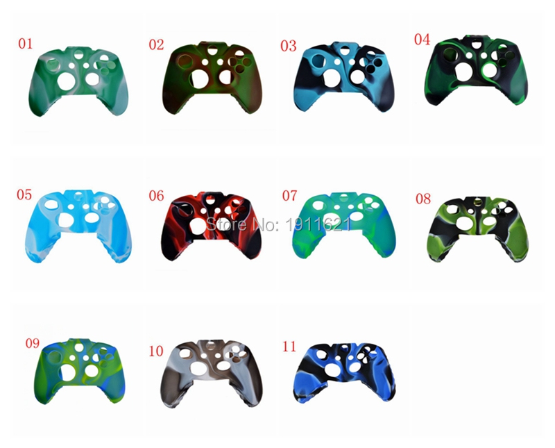 11 Styles 10 PCS Silicone Gel Rubber Case Skin Grip Cover For Xbox One Controller