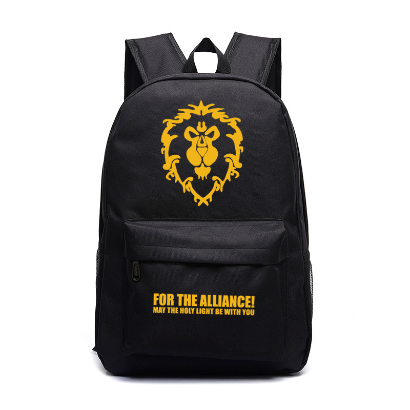 World Of Warcraft The Alliance Luminous Backpack School Backpack Women Men Laptop Backpack Teens Kids Boys Girls Wow School Bag
