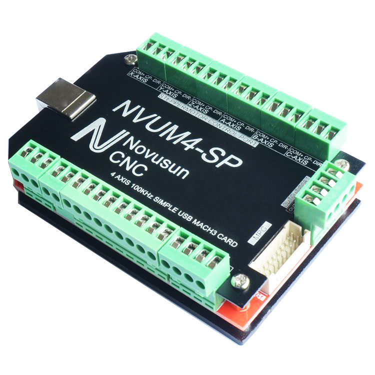Contrôleur de NVUM4-SP 4 axes de carte d'interface d'usb MACH3 de CNC 100 KHz pour le moteur pas à pas