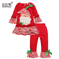 2017 baby christmas clothes boy clothes set t-shirt + pants infant toddler christmas gift pajamas girls christmas suit for kid