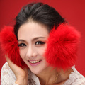 2017 fall winter warm protect ear snow ear fashion real super warm Rex Fox fur Ear muff warmers Fluffy Ear Muffs Headband