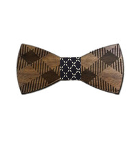 Wooden Bow Tie Geometric Design
