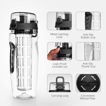 32oz 900ml BPA Free Fruit Infuser Juice Shaker Running Sports Water Bottle