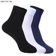 WHLYZ YW 10 pairs/lot 2017 New Brand Cotton & Bamboo Fiber Classic Business Men's Socks Men's Deodorant Socks Eur Size 39-45