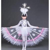 Children's Day Dance Costumes Kindergarten National Dancing Uniform Elegant Carnival Girls Peacock Stage Performance Clothing