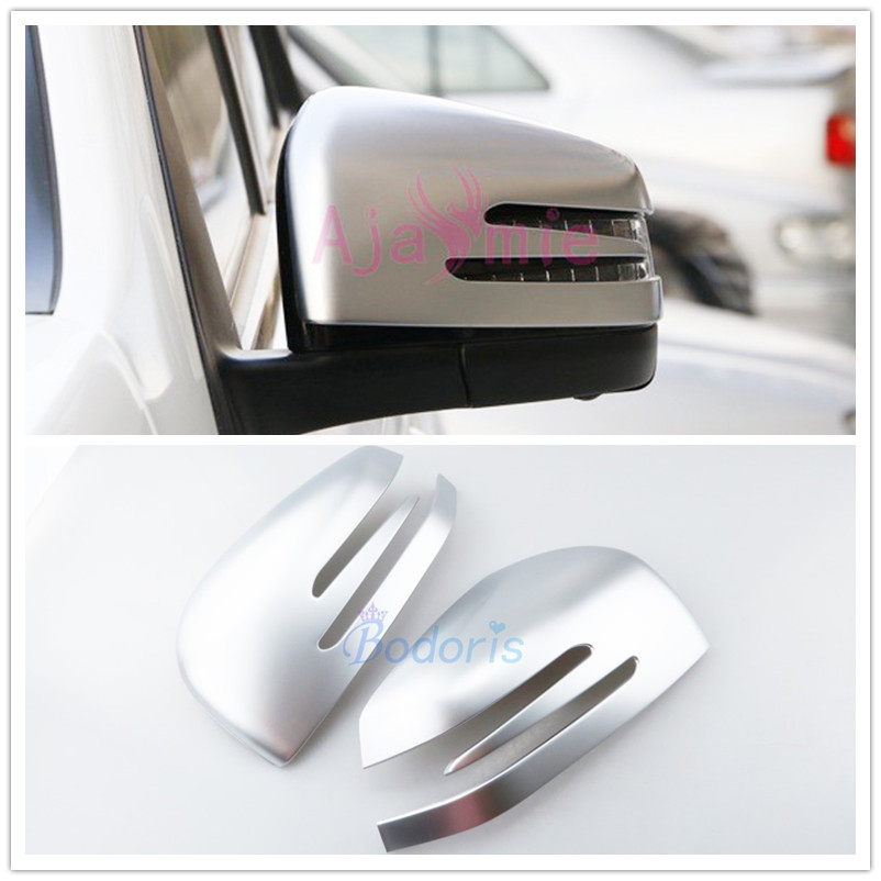 Carbon Fiber Color Door Mirror Cover Rearview Overlay Car Styling Panel For Mercedes Benz GLA CLA