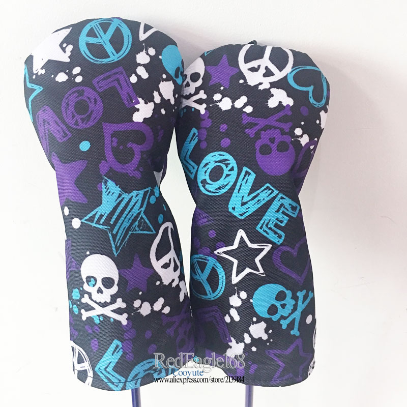Image 4 - wholesale New Golf wood headcover high quality Skull 135 Golf headcover Unisex Drivers Clubs head cover Free shipping-in Club Heads from Sports & Entertainment