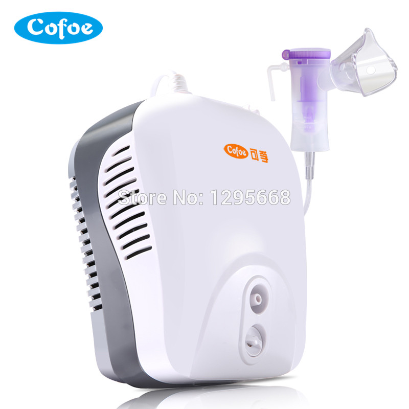 Cofoe Medical Household Nebulizer Health Care Asthma Inhaler Mini Automizer Inhale Ultrasonic for Children Baby Steaming Device cofoe portable ultrasonic nebulizer medical home health care portable inhaler mini dolphins cartoon designed 2017 free shipping