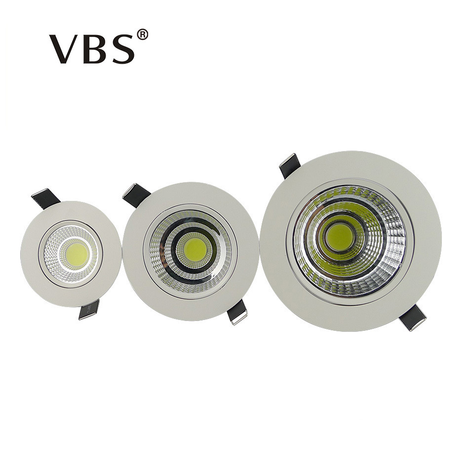 buy dimmable led downlight 5w 10w 20w cob led ceiling recessed downlight spot. Black Bedroom Furniture Sets. Home Design Ideas