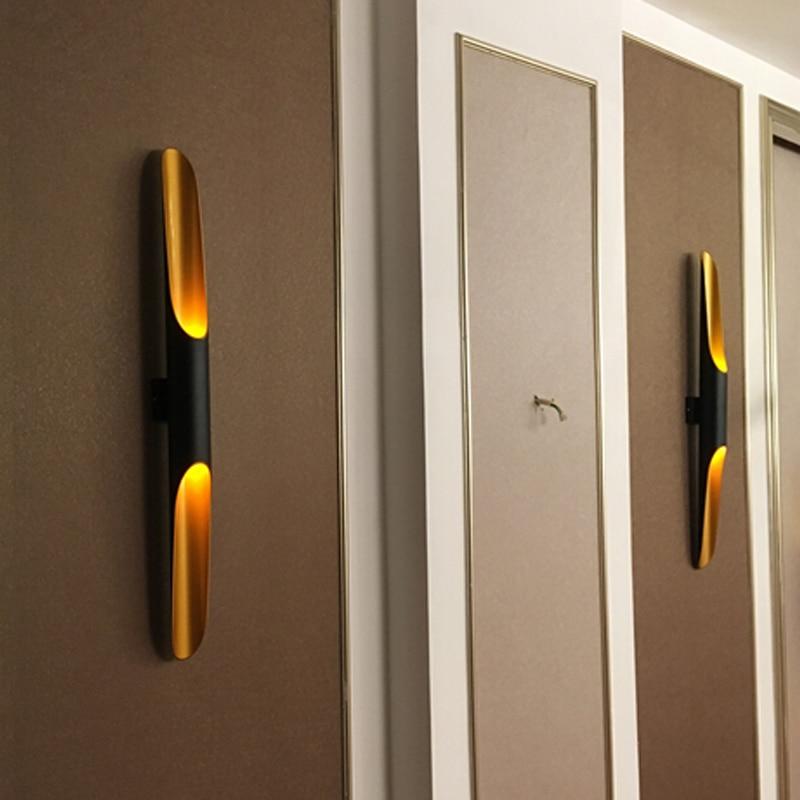 Modern Aluminum tube wall light E27 Light fixtures gold black Nordic restaurant living room aisle corridor