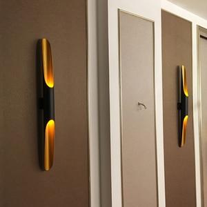 Image 1 - Hiện Đại Ống Nhôm Đèn E27 Đèn Vàng Đen Bắc Âu Nhà Hàng Phòng Khách Lối Đi Hành Lang Ban Công Đèn Treo Tường