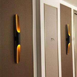 Image 1 - 현대 알루미늄 튜브 벽 조명 e27 전등 골드 블랙 북유럽 레스토랑 거실 통로 복도 발코니 벽 램프