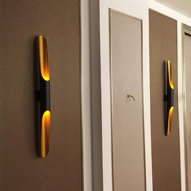 현대 알루미늄 튜브 벽 조명 e27 전등 골드 블랙 북유럽 레스토랑 거실 통로 복도 발코니 벽 램프
