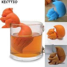 Cute Cartoon Squirrel Shaped Black tea Tea Infuser Tea Strainer Food Grade
