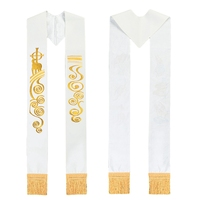 Christian Holy White Stole Church Clery Embroidery Stoles